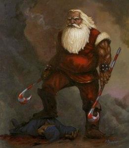shit-kicking santa
